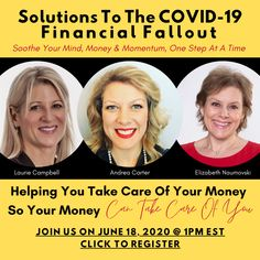 COVID-19 fallout is looming.  Want relief?    Join us, June 18th at 1pm EST for a roundtable planned to soothe anxiety, fears and overwhelm.   ⭐️   You'll gain an unbiased understanding of how you can bounce back. ⭐️   You'll receive tools to work through the pressure you're feeling ⭐️   You'll feel relief  ⭐️   You'll access clear action steps ⭐️   You'll discover there is a way to the other side  #relief #bouncebackfromCOVID #tribethrive #solutionstoCOVID19 June 18th, Business Motivation, First Step, Take Care Of Yourself, Fallout, Productivity, Gain, Warriors, Mindset