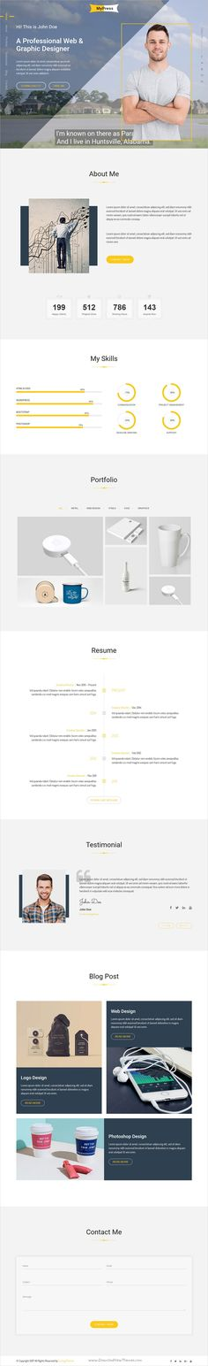 Resume Template Resume cv and Fonts - bootstrap resume template