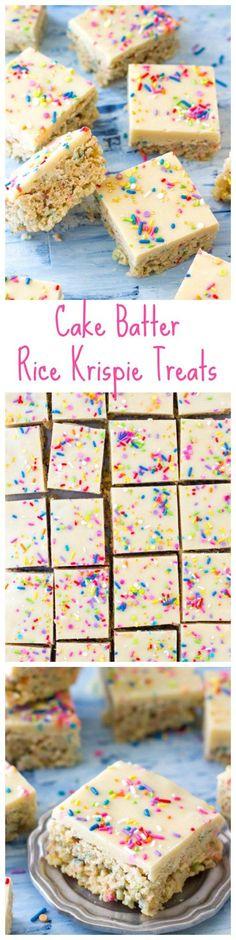 cake batter krispie treats | Posted By: DebbieNet.com |