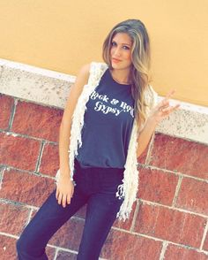 Rock and Roll Gypsy ✌️ This awesome tank by @amusesociety with our new best and bell bottom pants!  Modeled by @laynexelizabeth  CALL US TO HOLD OR SHIP #941.312.2439  #malibufox #boutique #boho #beachbabes #gypsy #fashion #girly #srq #sarasota #shoes #bradenton #florida #shopping #universityparkway #utc