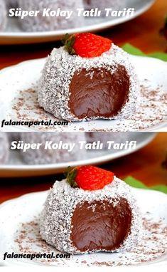 Süper Kolay Tatlı Tarifi – Tatlı tarifleri – Las recetas más prácticas y fáciles Sweets Recipes, Easy Desserts, Cooking Recipes, Super Easy Dessert Recipe, Chocolates, Confectionery, Vegan Gluten Free, Granola, Deserts