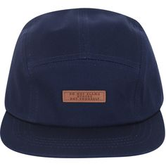 02363bf719a ililily Faux-leather Logo New Era Style Adjustable Five Panel Hat Camp.