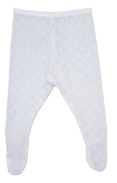 Girls Country Kids White Cotton Daisy Tights 12-24 months