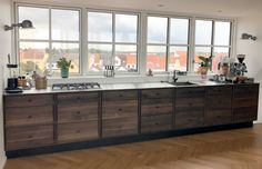 SkabRum, Kitchen in smoked oak. #kitchen #oak #smokedoak #wood #danishdesign #customerpictures #customer #home #design