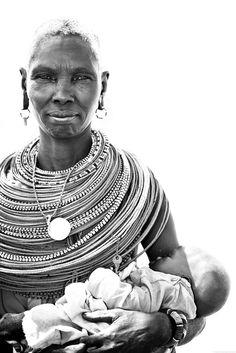Africa | A Samburu woman with a baby. Samburu National Reserve, Kenya | © Robin Moore