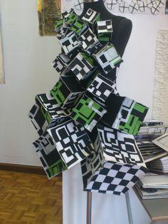 box dress Portfolio Examples, Higher Design, New Art, Paper Art, Bodice, Design Ideas, Textiles, Gowns, Bathroom