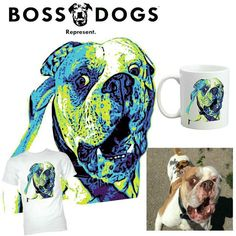 CONTEST!!!! Tag a friend in the comments below who would totally dig a shirt with their dog on it. We will choose one comment and their friend at noon tomorrow to give two $35 gift cards to! by bossdogsco #lacyandpaws