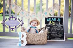 Printable Half Birthday Chalkboard Photo Prop | Baby's First Birthday | Size: 16x20 | *Digital File* | by MMasonDesigns by MMasonDesigns on Etsy https://www.etsy.com/listing/231246972/printable-half-birthday-chalkboard-photo