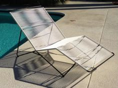 Vintage Rare Mid Century Eames Era Patio Outdoor / Indoor Double Chaise Lounge