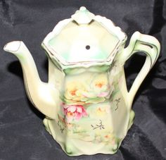 Pretty.....Tea Pot with Water Lilies Made in Germany by rwiggins on Etsy, $20.00