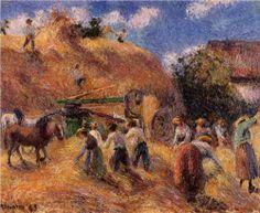 The Harvest, Camille Pissarro Medium: oil,canvas Pierre Auguste Renoir, Edouard Manet, Paul Gauguin, Oil Canvas, Oil Painting On Canvas, Oil Paintings, Claude Monet, Anime Comics, Camille Pissarro Paintings