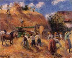 The Harvest - Camille Pissarro