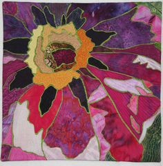 Peony art quilt by Denise Oyama Miller 2012