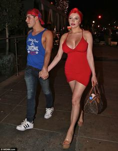 Courtney Stodden enjoys a night out on the town after shaving her head