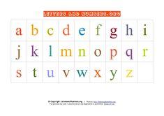 Printable Alphabet Letter Chart Lowercase