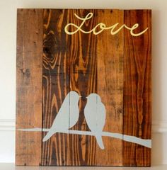 Painted scrap wood decor
