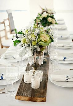 Image detail for -... New York Outdoor Elegant White Chic Summer Table Setting Centerpiece