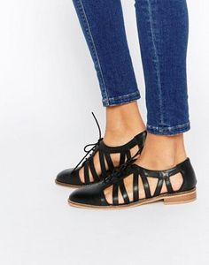 Кожаные туфли на плоской подошве ASOS MEMBERSHIP