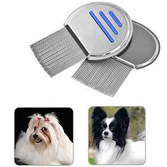 Stainless Steel Pet Dog Fine-toothed Flea Lice Removal Cleanup Comb Brush Tool