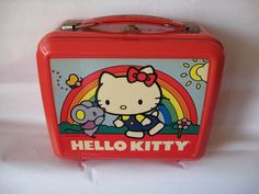Sanrio Hello Kitty Lunch Box w Thermox Aladdin Vintage Used 76 84 | eBay