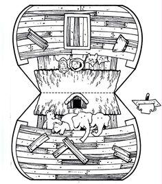 Arche de noé à découper coller...