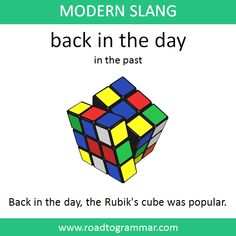 Modern Slang: Back in the Day Slang English, English Idioms, English Phrases, Learn English Words, English Lessons, English Conversation Learning, Interesting English Words, Good Vocabulary Words, Advanced English Vocabulary