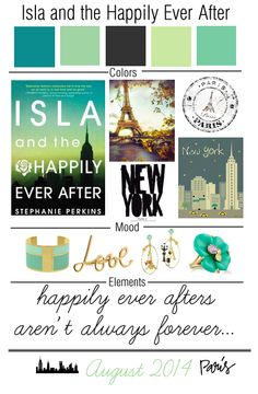 Book Mood Board (2): Isla and the Happily Ever After by Stephanie Perkins! @penguinbooksusa  http://myfashionobsessedlookbook.com/book-mood-board-2-isla-happily-ever/