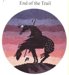 End of the Trail Counted CrossStitch Kit - Pegasus Originals