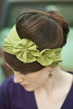 I Like Big Bows: rosette jersey headband tutorial