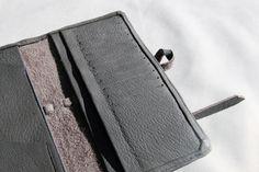 TRAVELLING WALLET - #handmade #oneofakind #unique #personalised #custommade #leather #deerskin #metallic #ipad #ipadmini #macbook #elisabethkwan #leathercraft #artisan #handcrafted #etsy #travelling #wallet Deerskin, Leather Craft, Ipad Mini, Macbook, Travelling, Artisan, Metallic, Wallet, Unique
