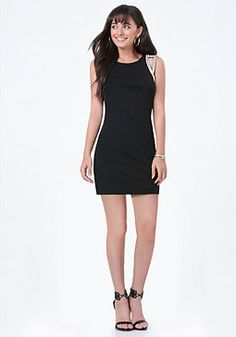 bebe Embellished Shoulder Dress #bebe #pinyourwishlist