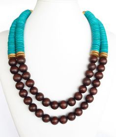 Wood Necklace on Pinterest | Wooden Jewelry, Wooden Earrings and ...