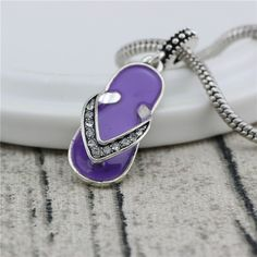 7colour Big Hole slippers pendant  Charms Beads With Rhinestone DIY Jewelry Making Beads Fits Pandora Charms Bracelets Necklaces