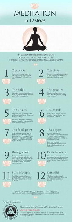 Meditation in 12 steps | Piktochart Infographic Editor