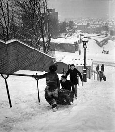 Montmartre sous la neige, 1954 © Bovis