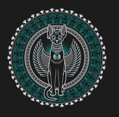 Bastet Goddess, Egyptian Goddess, Egyptian Art, Fractal Art, Fractals, Aliens, Arte Alien, Psychedelic Tapestry, Vintage Pop Art