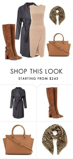 """""""Not usual morning"""" by subvilli ❤ liked on Polyvore featuring Phase Eight, Gianvito Rossi, MICHAEL Michael Kors, Mulberry, New Look, beige, gray and coat"""
