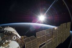 NASA officials have responded to the recent bewildering proliferation of claims of alien UFO spacecraft sightings close to the International Space Station (ISS) in low Earth orbit. Earth And Space, Nasa Goddard, Cosmos, Nasa Photos, Photos Du, Nasa Pictures, Nasa Images, Nasa Space Center, Life In Space