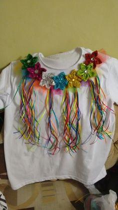 Camiseta flores de carnaval