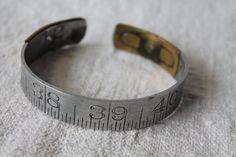 vintage ruler bracelet by salvageeighteen on Etsy, $30.00
