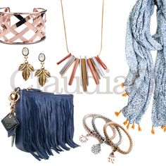 LOOK 3, Sapphire and Rose Gold - ClaudiaG Collection