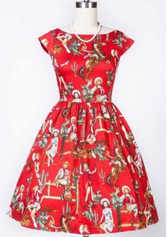 Women's back V neck short sleeve figure printing large hem slim fit vintage dresses Sadie Hawkins, Woman Back, Pin Up Style, Female Fashion, Fashion Advice, Envy, Vintage Dresses, Cool Outfits, Dresses For Work