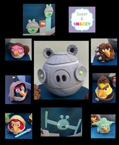 Angry Birds Star Wars fondant figurines - Angry Birds Star Wars Cake figurines by Sweet and Snazzy https://www.facebook.com/sweetandsnazzy