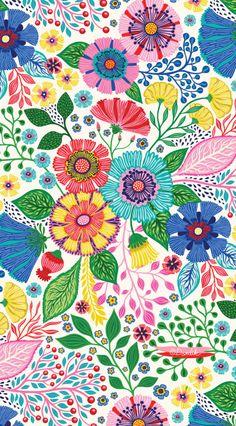68 New Ideas Children Book Design Patterns Magazine Illustration, Pattern Illustration, Children's Book Illustration, Motif Floral, Floral Prints, Art Prints, Vintage Floral Patterns, Motifs Textiles, Unique Toys