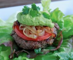 This bunless burger is packed full of nutrition and flavor