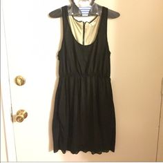 Urban Outfitters black dress Black sheer dress with nude under lining. Silence and noise brand. Polyester and viscose machine wash and dry. Urban Outfitters Dresses Mini
