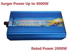 free shipping,pure sine wave Inverter 2000w peak power 4KW, for fridge,A/C and more appliances solar power dc to ac inverter #Affiliate