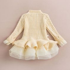New 2016 Girls knitted Sweater Autumn Winter Children Clothing Pullovers Sweaters Crochet Kids Girl Clothes - Kid Shop Global - Kids & Baby Shop Online - baby & kids clothing, toys for baby & kid Kids Outfits Girls, Girl Outfits, Girls Dresses, Kids Girls, Party Dresses, Twin Outfits, Princess Outfits, Baby Kids, Girls Knitted Dress