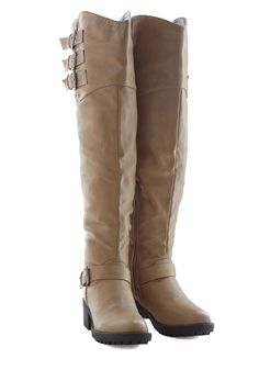 Stride Away Boot. These beige boots were made for strolling around town! #tan #modcloth