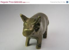 5 DAY SALE Little Brass Piggy  Free Shipping by andantiques, $18.70